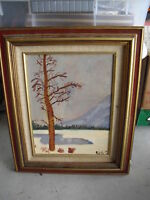 Original Painting of Winter Tree by Rich S LOOK