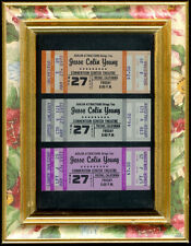 3 Super Rare Framed Unused Jesse Colin Young Concert Tickets May 27th 1977