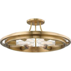 Hudson Valley 2721-AGB Chambers 6 Light Flush Mount Ceiling Light Aged Brass