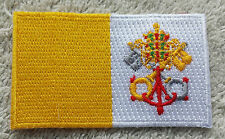 VATICAN CITY FLAG PATCH Embroidered Badge Iron Sew on 4.5cm x 6cm Rome Catholic