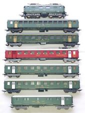Lima HO 1:87 Swiss SBB-CFF 1047 LOCOMOTIVE Re 4/4 + 6 PASSENGER WAGON Set NM`80!