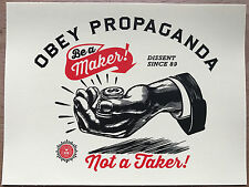 Shepard Fairey Be A Maker Sticker rare Obey Giant vinyl original propaganda