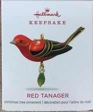 Hallmark 2018 Red Tanager Beauty of the Birds  Miniature Ornament - MIB