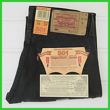 Vintage 90's Black Levis 501 Jeans 28W / 32L (27/31) Red Tab - Button Fly  BNWT