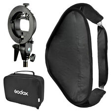 Godox 80cm x 80cm Softbox Diffuser Kit + S-type Kit Bracket for Speedlite flash