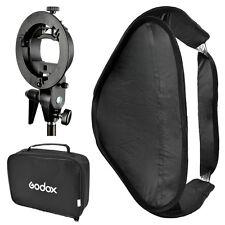 Godox 80cm x 80cm Softbox Diffuser Kit + S-type Kit Bracket for Speedlite flash