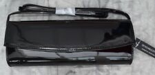 BNWT EX- DOROTHY PERKINS GLOSSY PATENT STRUCTURED CLUTCH HANDBAG STRAP 4 COLOURS