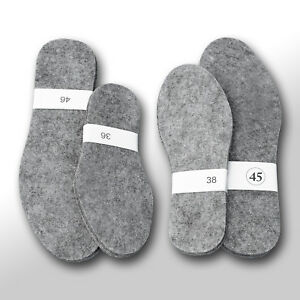 UNISEX FELT SHOES INSOLES - INNER FOR BOOTS, SHOES - MENS, LADYS - ALL SIZES