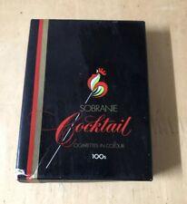 Vintage Cigarettes Packet Sobranie Cocktail Colour 100s Empty Cigarette Box