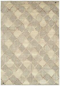 10X14 Modern Geometric Trellis High-Low Area Rug Contemporary Carpet