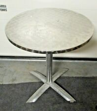 Round Stainless Poseur Table Outside / Garden / Cafe / Restaurant Table