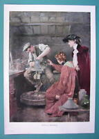 POTTERY Artist at Turning Wheel Ladies Watch - COLOR VICTORIAN Era Print