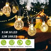 50/100 LED Solar String Fairy Light Outdoor Xmas Party Lamp Wedding Tree