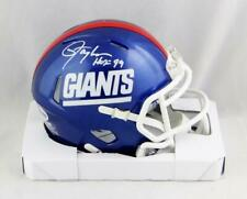 Lawrence Taylor Signed NY Giants Color Rush Mini Helmet w/HOF - Beckett W Auth