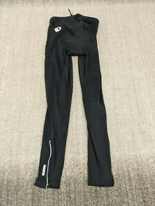 Pearl Izumi Mens Black Padded Cycling Pants Ankle Zip Logo Medium Compression