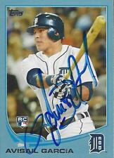 Avisail Garcia Detroit Tigers 2013 Topps Blue Border Signed Card