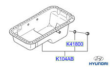 Genuine Hyundai Terracan Sump Pan - 0K88R10400A