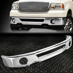 FOR 06-08 FORD F150 LINCOLN MARK LT STEEL FRONT BUMPER FACE BAR W/FOG LIGHT HOLE