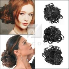 Clip in Hair Bun Hairpiece Scrunchie Tray Ponytail Extension Synthetic Fiber OB