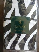 NOS Set of Ralph Lauren Black and White Zebra Print Pillowcases