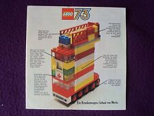 LEGO GUIDE TO NEW SETS 1972 / 3  GERMAN LANGUAFE VGC FREE UK POST
