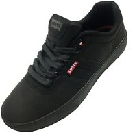Levi's Men's Comfort Insole Synthetic Upper Mid Casual/Work Shoes Size 8 Black