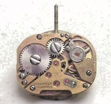 Antique Vintage Catena 17j Swiss Wrist Watch Movement & Dial Face For Parts W205