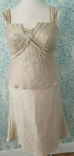 Fabulous Frank Usher Gold Skirt And Top / Mother Of The Bride Outfit Size 14