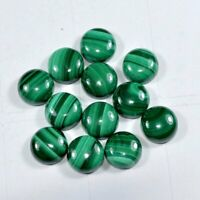Lot Of 11x11mm To  20x20mm Round Cabochon - AAA Natural Malachite Loose Gemstone