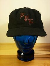 Rare! Vintage Polo Sport Ralph Lauren Black Wool Hat Blue Polo Tag Ski Winter