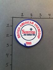 1980 British-American Friendship patch SCOUTING THE BETTER LIFE PATCH VINTAGE