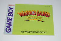 Super Mario Land 3 Wario Land  Nintendo Game Boy Video Game Manual Only
