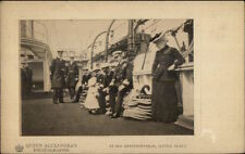 Queen Alexandra - At Sea on Mediterranean (Little Olav) c1910 Postcard