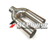 """TWIN OUTLET EXHAUST TIP STAINLESS STEEL 2.5"""" IN/OUT CUSTOM MADE BMW M3 WELD"""