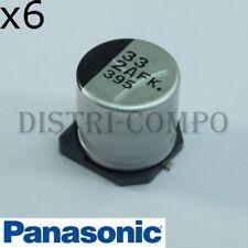 Condensateur 50V 33µF 105° SMD Panasonic FK-V 6.2x8mm lot de 6