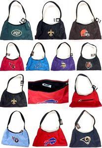 Licensed Team Logo Color Embroidered Purse Handbag - New