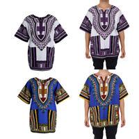 2 Stk. Unisex Traditionelle Ethnic-Muster Kleid Thailand Stil Afrikanisch