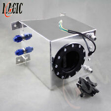 Racing Drift Fuel Cell Tank 9.5 Liter +Level Sender 2.5 Gallon Polished Aluminum