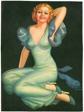 """Untitled by Pearl Alice Frush 1930s Glamour Girl art deco print 8"""" x 11"""" Ӝ"""