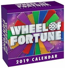 WHEEL OF FORTUNE - 2019 DAILY DESK CALENDAR - BRAND NEW - 492007