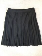 NEW LOOK BLACK PLEATED SKIRT WITH MINI PLEATS ALL AROUND - FULLY LINED - 6 -BNWT