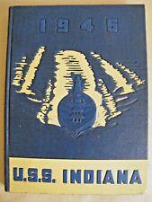 USS Indiana BB 58 World War II Battleship Cruise Book 1942-45 US Navy HTF