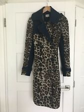 Stylish 'Miss sixty' Leopard Print And Blue Denim Coat
