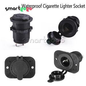 12V Waterproof Car Motor Cigarett Lighter Plug Outlet Power Socket BSG