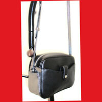 NEW G.I.L.I. Leather Crossbody Bag Black/Silver