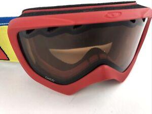 Girls Chico Giro Ski Goggles Red Yellow