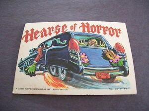 1980 TOPPS Trading Card Hearse of Horror Weird Wheels