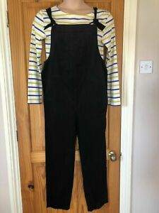 Seasalt Size 10 Maternity Black Trewidden Dungarees Brand New with Tags