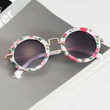 Kids ANTI-UV Glasses Candy Colors Boys Girls Children Round Sunglasses Eyewear