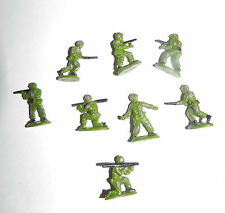 """Estate=Christmas or Train Village Minature: 8 Pc 1"""" Army Men with Guns LOOK"""
